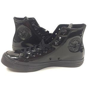 NEW Converse CTAS Hi Glossy Black Shoes Size 9